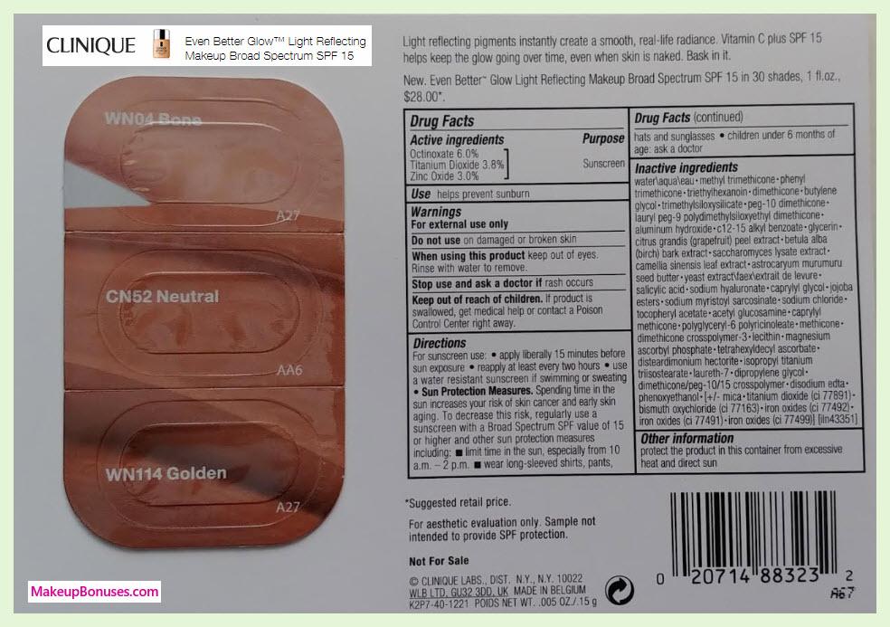 Clinique FREE Glow SAMPLE - MakeupBonuses.com