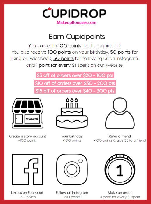 CUPIDROP Birthday Gift - MakeupBonuses.com #CUPIDROP