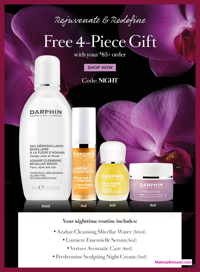 Receive a free 4-pc gift with $85 Darphin purchase