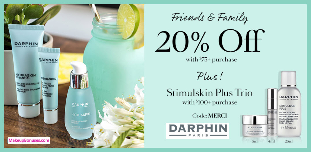 Receive a free 3-pc gift with $100 Darphin purchase