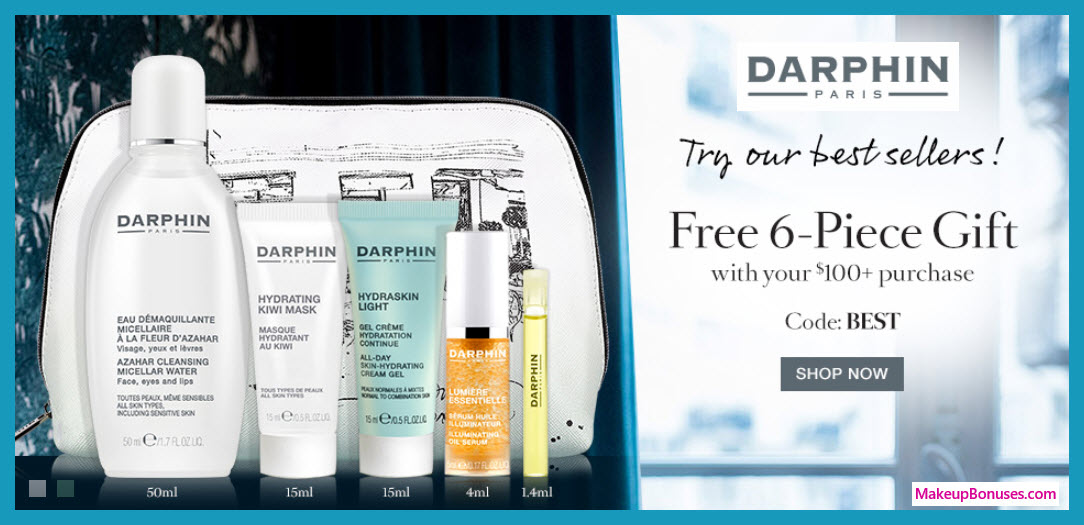 Receive a free 6-pc gift with $100 Darphin purchase