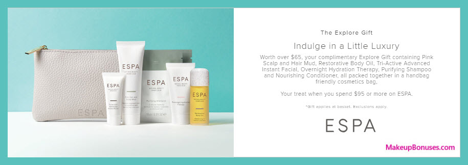 Receive a free 7-pc gift with $90 ESPA purchase