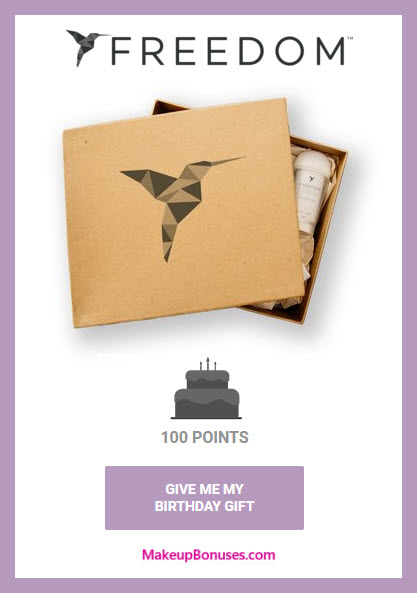 Freedom Deodorant Birthday Gift - MakeupBonuses.com #FreedomDeodorant #CrueltyFree