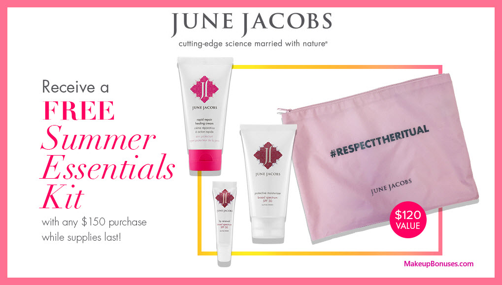 Receive a free 4-pc gift with $150 June Jacobs purchase