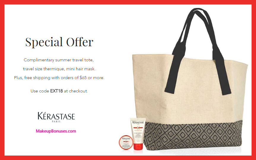 Receive a free 3-pc gift with $65 Kérastase purchase