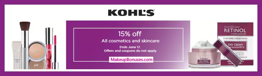 Kohl's Beauty & Skincare Discount - MakeupBonuses.com