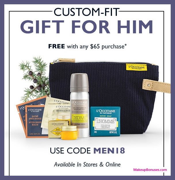 Receive a free 8-pc gift with $65 L'Occitane purchase