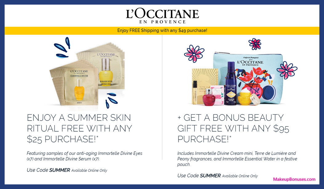 Receive a free 14-pc gift with $25 L'Occitane purchase