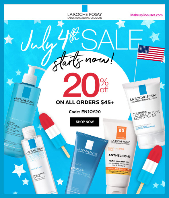 La Roche-Posay Sale MakeupBonuses.com