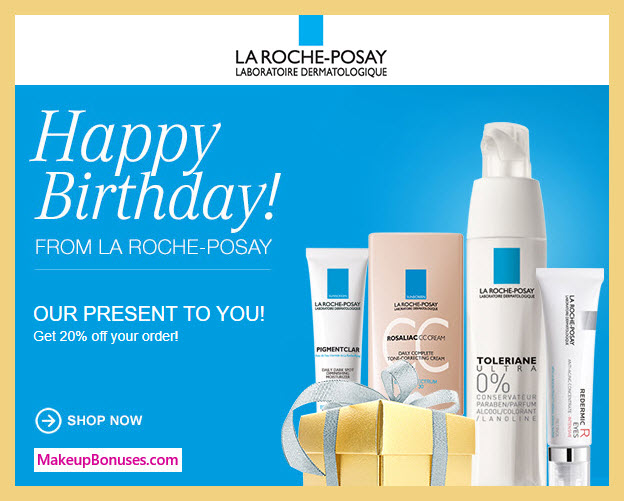 La Roche-Posay Birthday Gift - MakeupBonuses.com #LaRoche-Posay