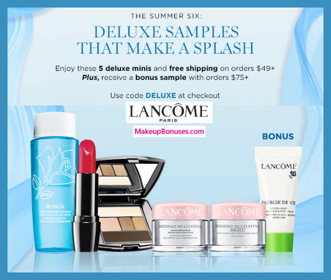 Receive a free 5-pc gift with $49 Lancôme purchase