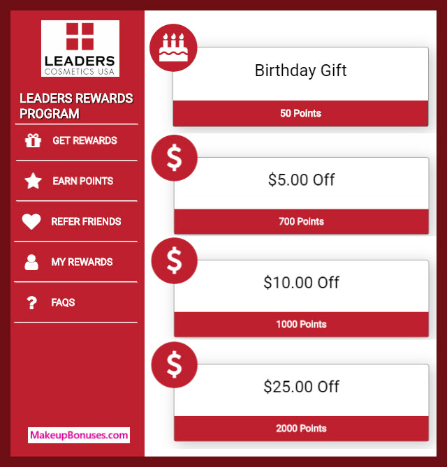 Leaders Cosmetics Birthday Gift - MakeupBonuses.com #LeadersCosmetics