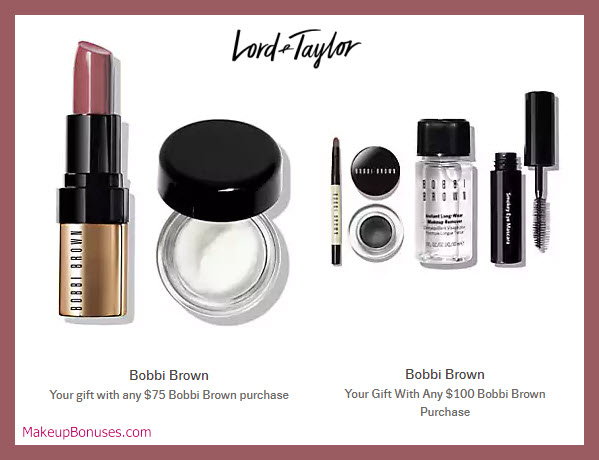 Receive a free 6-pc gift with $100 Bobbi Brown purchase