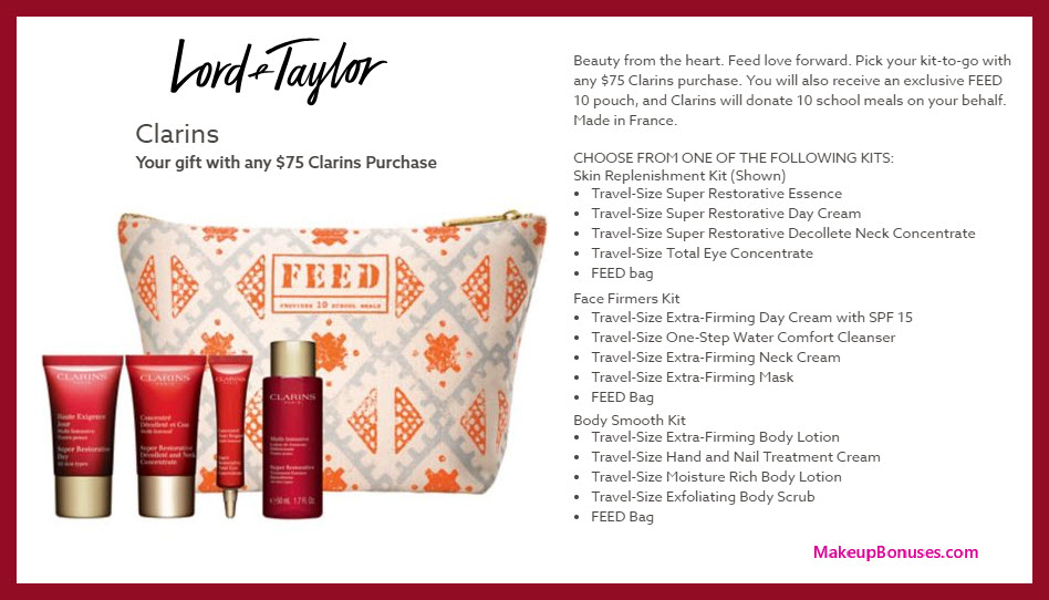 Receive your choice of 5-pc gift with $75 Clarins purchase