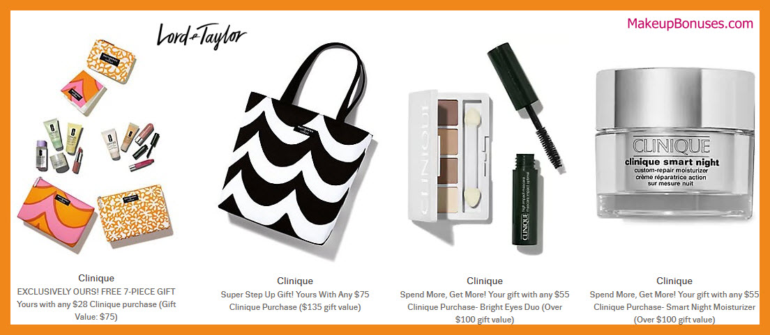 Receive a free 11-pc gift with $75 Clinique purchase