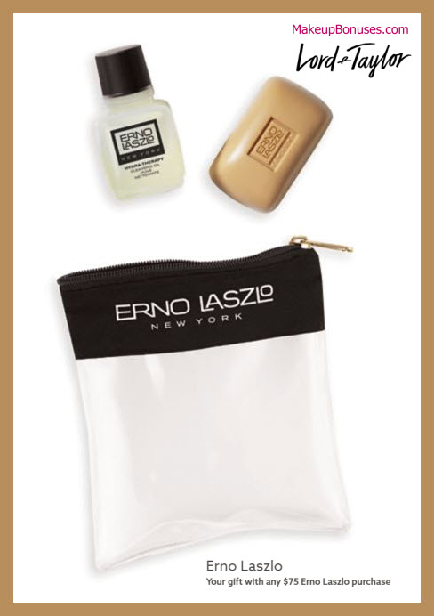 Receive a free 3-pc gift with $75 Erno Laszlo purchase