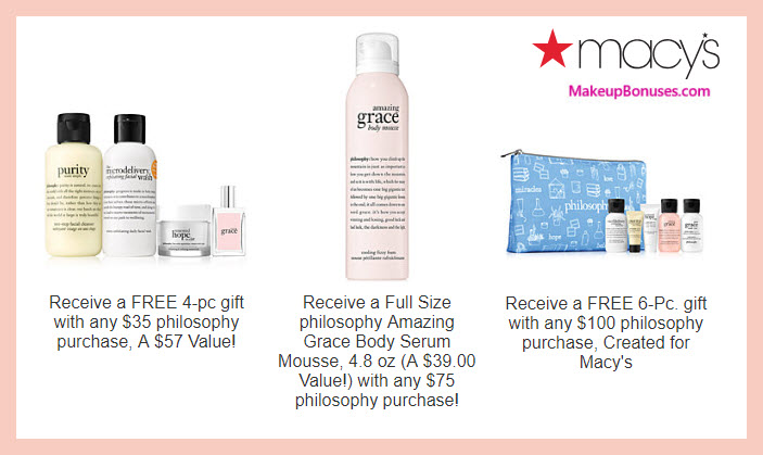 Receive a free 11-pc gift with $100 philosophy purchase