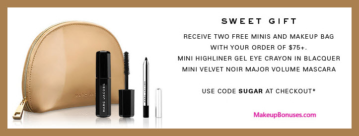 Receive a free 3-pc gift with $75 Marc Jacobs Beauty purchase