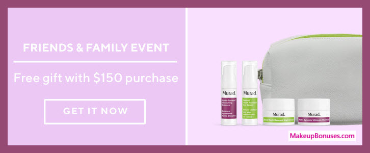 Receive a free 5-pc gift with $150 Murad purchase
