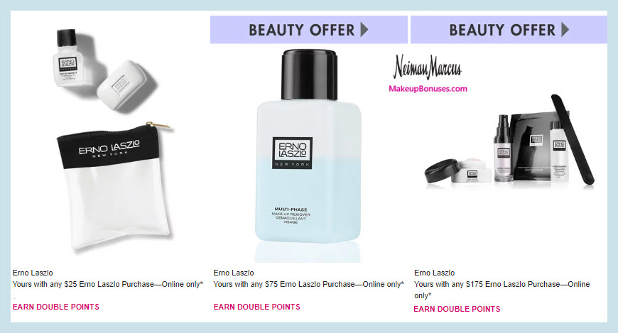 Receive a free 3-pc gift with $25 Erno Laszlo purchase