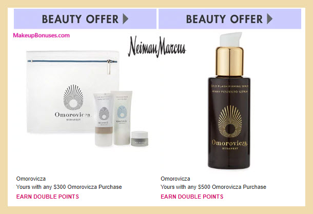 Receive a free 4-pc gift with $300 Omorovicza purchase