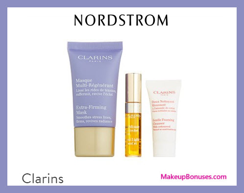 Receive a free 3-pc gift with $45 Clarins purchase