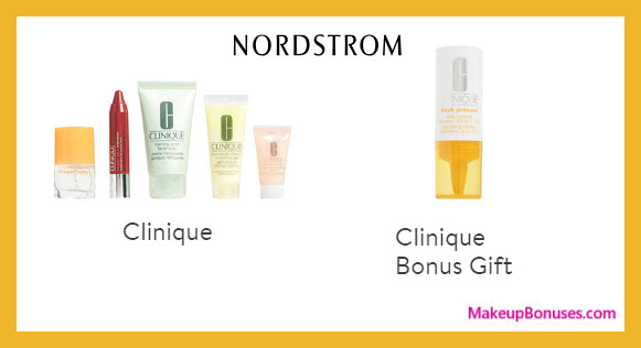 Receive a free 5-pc gift with $35 Clinique purchase