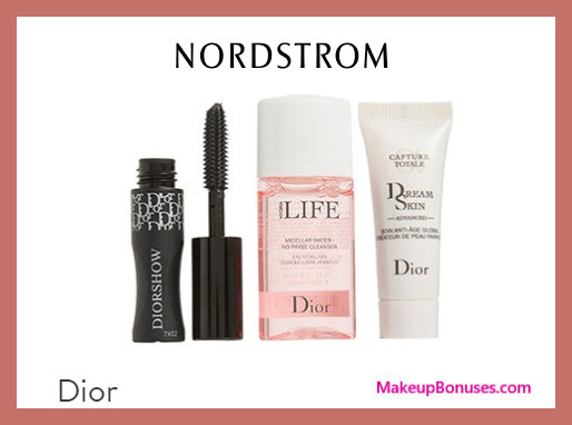 Receive a free 3-pc gift with $150 Dior Beauty purchase