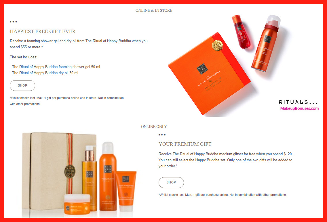 Receive a free 4-pc gift with $120 Rituals purchase