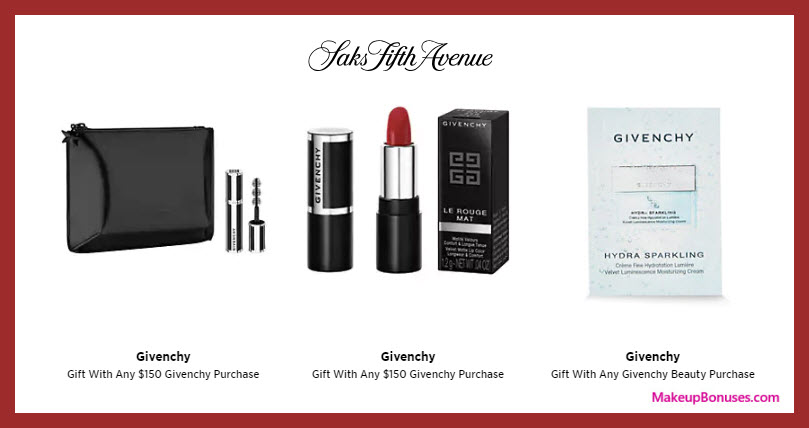 Receive a free 4-pc gift with $150 Givenchy purchase