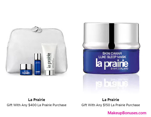 Receive a free 5-pc gift with $400 La Prairie purchase