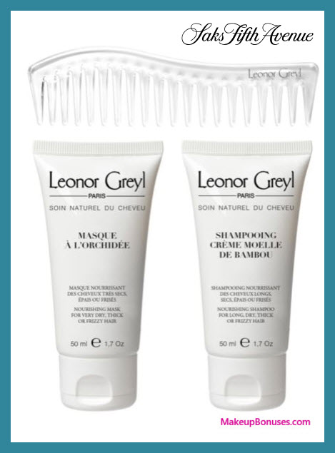 Receive a free 3-pc gift with $75 Leonor Greyl purchase
