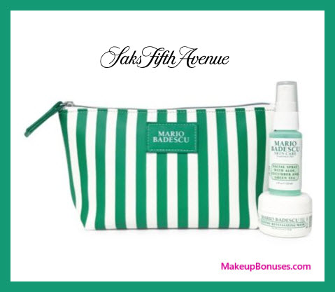 Receive a free 3-pc gift with $50 Mario Badescu purchase
