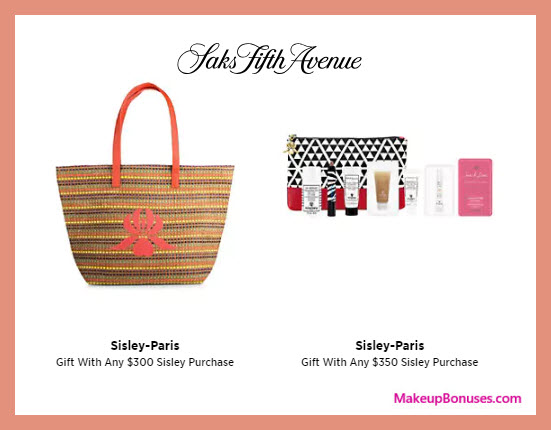 Receive a free 9-pc gift with $350 Sisley Paris purchase
