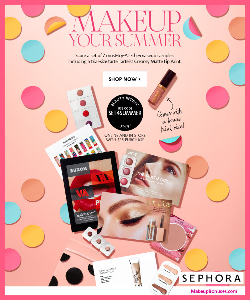 Receive a free 7-pc gift with $35 Multi-Brand purchase
