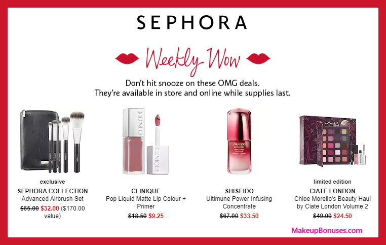 Sephora Weekly Wow Offers 50% Off - MakeupBonuses.com