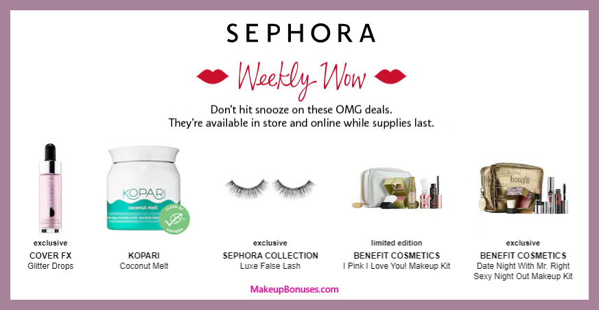 Sephora Weekly Wow Discounts - MakeupBonuses.com