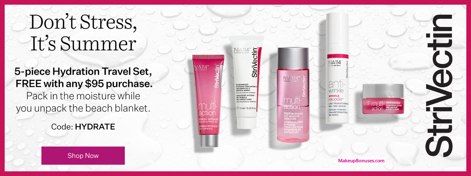 Receive a free 5-pc gift with $95 StriVectin purchase