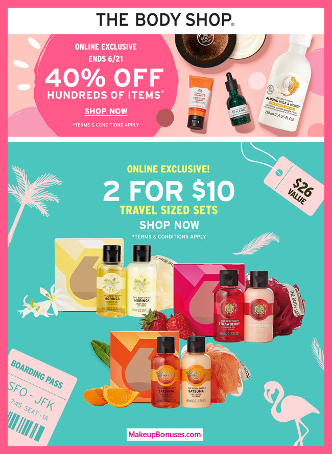 40% Off at The Body Shop - MakeupBonuses.com
