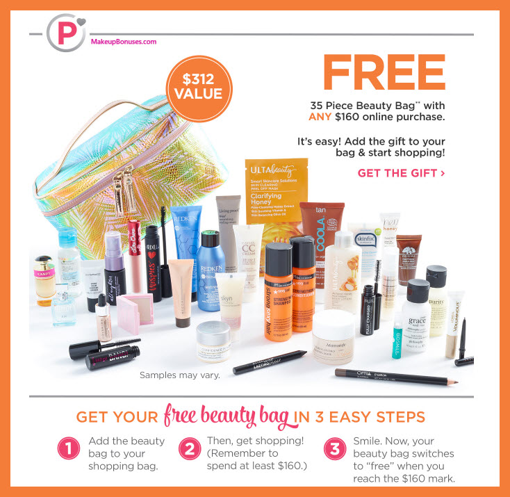 Receive a free 35-pc gift with Platinum Member $160+ purchase