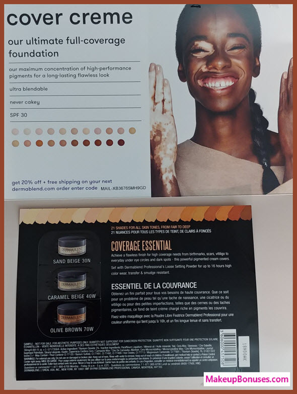Free Dermablend sample - MakeupBonuses.com