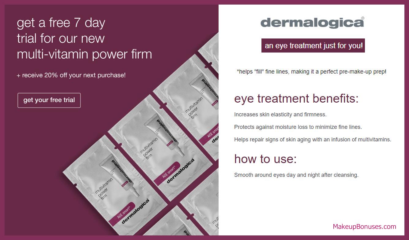 Dermalogica Free Sample - MakeupBonuses.com