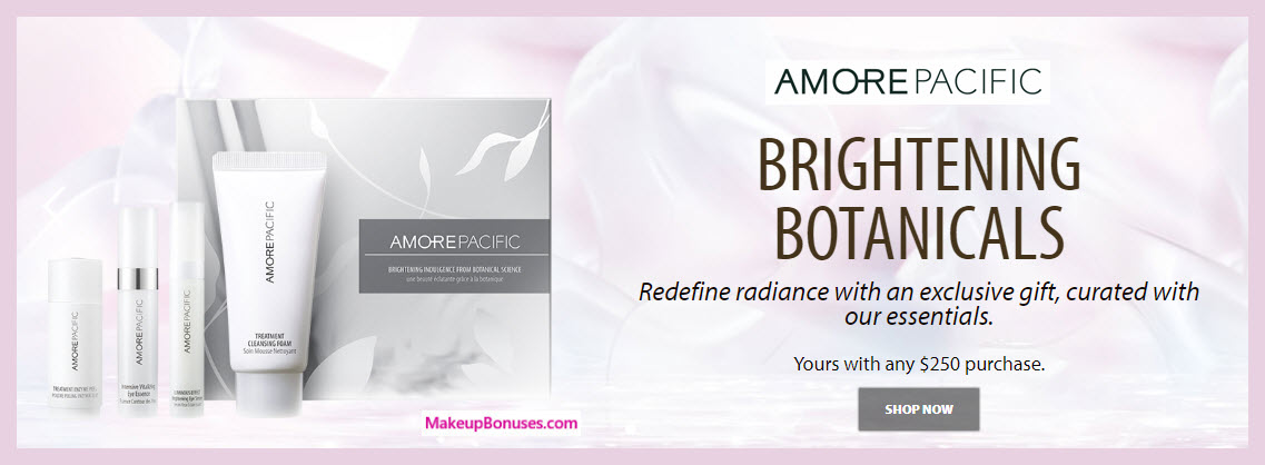 Receive a free 4-pc gift with $250 AMOREPACIFIC purchase
