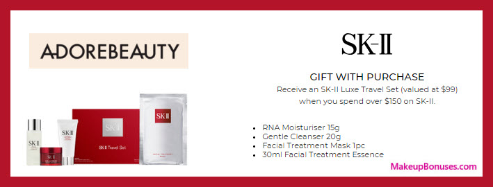 Receive a free 4-pc gift with $150 SK-II purchase