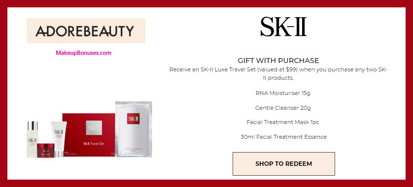 Receive a free 4-pc gift with 2+ products purchase