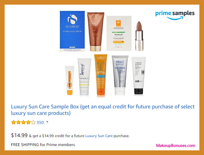 Amazon Prime Samples Box (Sun Care) - MakeupBonuses.com
