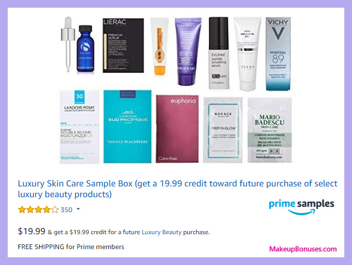 Amazon Prime Samples Box - MakeupBonuses.com
