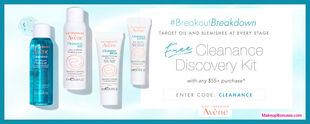 Receive a free 4-pc gift with $55 Avène purchase