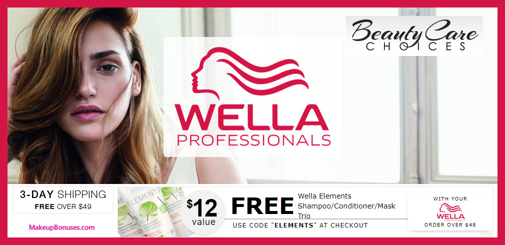 Receive a free 3-pc gift with $48 Wella purchase
