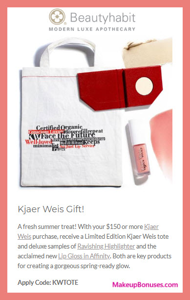 Receive a free 3-pc gift with $150 Kjaer Weis purchase